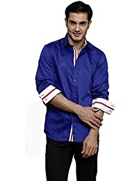 DAZZIO Solid Slim Fit Royal Blue Formal Shirt (Please Refer Size Chart)