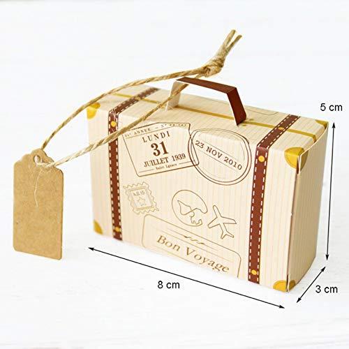 GXY FLZ 50 Unids Blanco / Kraft Mini Caja De Papel