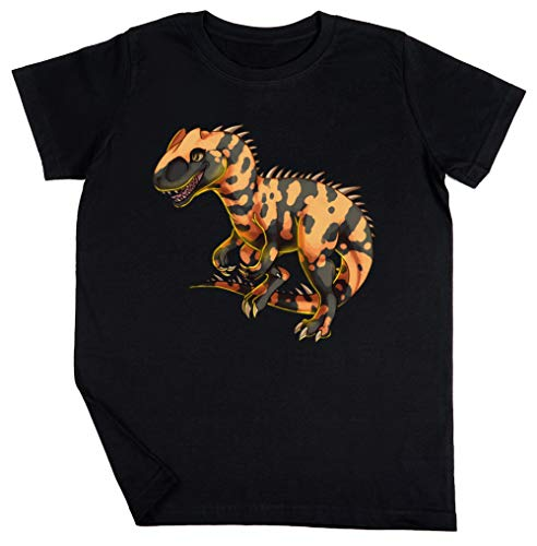 Allosaurus - Dinosaurier Schwarz T-Shirt Jungen Mädchen Größe XS | Unisex Kids Black T-Shirt Size XS