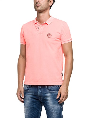 Replay M6895S.000.20132G-Polo Uomo    Rot (NEON RED 153) X-Large