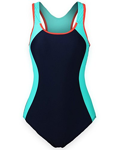 Aidonger da donna Costume da bagno con Connessione colori costume Iger Cracker colore EU36-EU50 blu marino 46/44