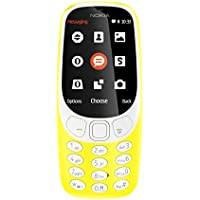 "Nokia 3310 - Móvil libre (pantalla de 2.4"", batería en stand-by hasta 1 mes, cámara 2MP con Flash LED), color amarillo"