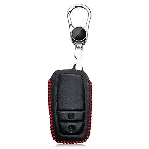 toxtech-pelle-smart-cover-per-chiave-auto-2-pulsanti-per-toyota-in-acciaio-inox-filo-rosso-rosso