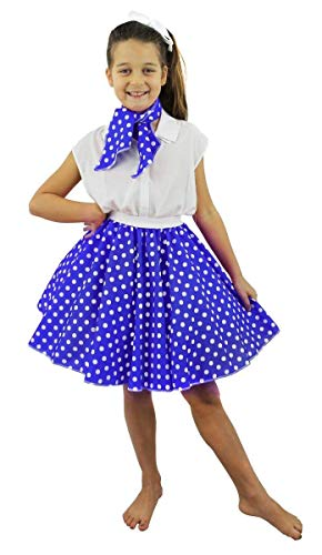 Kostüm Roll Rock And Outfits - MÄDCHEN Polka DOT Rock 50'S Fancy Dress Costume - 17
