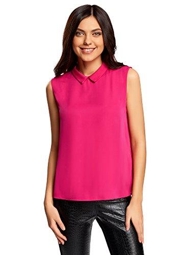 4700n Farbe (oodji Ultra Damen Ärmellose Bluse Basic, Rosa, DE 36 / EU 38 / S)
