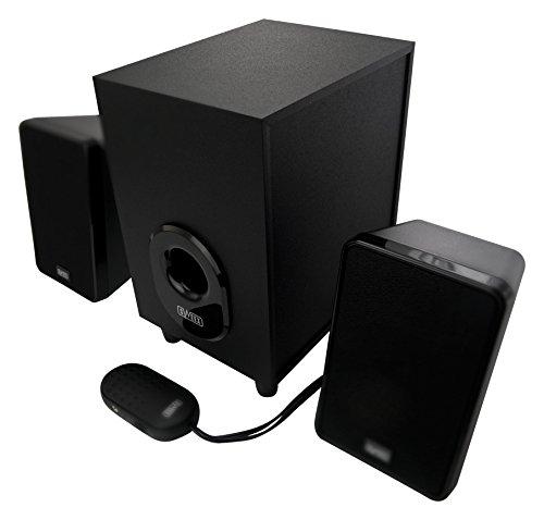 Sweex 80 WATT Design 2.1 Lautsprecher System für Pc Computer Laptop Notebook Gamer Gaming TV Box Boxen mit Subwoofer schwarz Lautsprechersystem