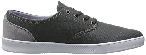 Emerica Laced By Leo Romero-M, Baskets mode homme Gris foncé/blanc