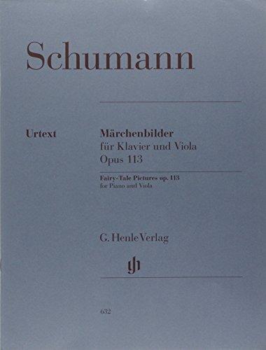Märchenbilder Opus 113 (Contes de Fées) --- Alto/Piano par Schumann R