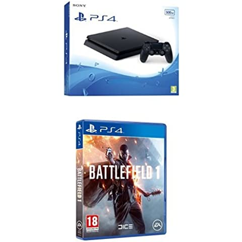 PlayStation 4 Slim (PS4) 500 GB - Consola + Battlefield 1