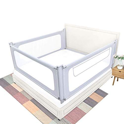 Bettgitter Bettschutzgitter Sicherheit Seitenschutz, Schienenschutz für Kinder Kleinkind Höhenverstellbar 3er Set Für 3 Seiten (größe : 1.8X2.0X2.0M)