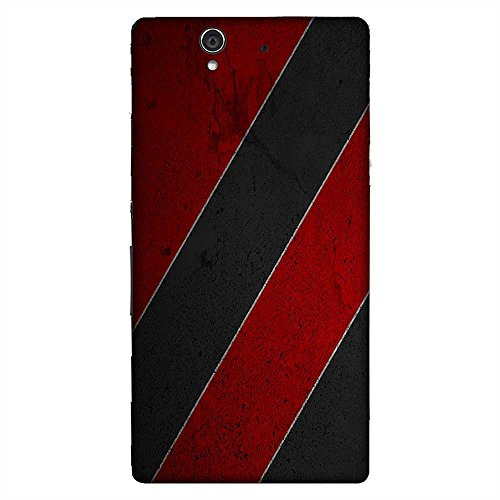 Mobo Monkey Printed Designer Hard Tpu Armor Bumper Shell Back Case Cover for Sony Xperia Z :: Sony Xperia ZC6603 :: Sony Xperia Z L36h C6602 :: Sony Xperia Z LTE, Sony Xperia Z HSPA+ (Red & Grey Pattern :: Texture And Pattern :: Colorful Stripes :: Leather :: Faux Leather :: Maroon Design)  available at amazon for Rs.399