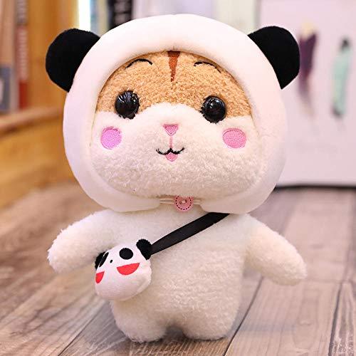 HPETN Süße Hamster Plüschtier Kissen Puppe Große Ragdoll Puppe Mädchen schläft auf Bett Puppe Geburtstagsgeschenk-Brauner Panda Hamster_25 cm