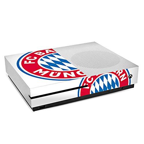 DeinDesign Skin Aufkleber Sticker Folie für Microsoft Xbox One S FC Bayern München Bundesliga Fußball Fanartikel Merchandise