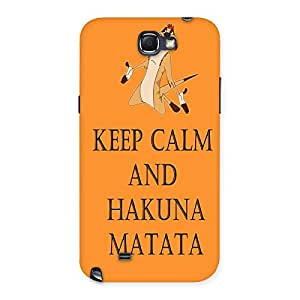 Enticing HKN MTT Orange Back Case Cover for Galaxy Note 2