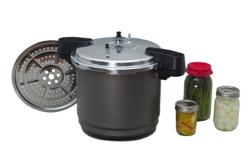 Granit Ware Druck Canner/Herd/Dampfgarer 12 Quart schwarz
