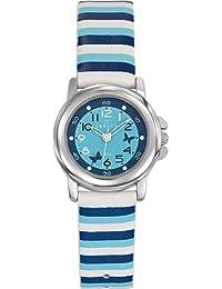 Certus  - Reloj de cuarzo unisex, correa de cuero multicolor