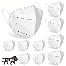 Sabaira N95 Washable Reusable; Anti Dust/Pollution and Anti Bacterial Shield Cotton Face Mask with 4 Layered Ply for Men and Women (Any Random Colour) - Pack of 10
