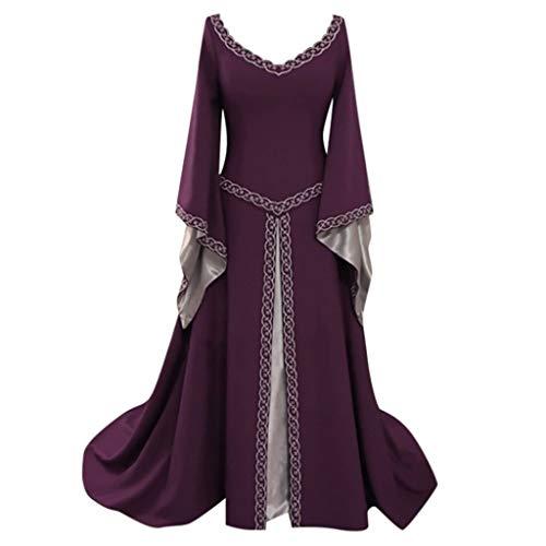 LANWINY Sexy Mittelalter Kostüm Luxuriös mittelalterlichen Adels Palast Prinzessin Kleid Halloween Viktorianischen Königin Kostüm