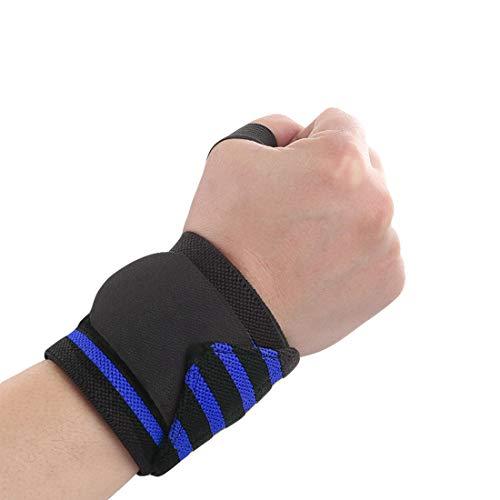VIVOSUN Unisex Handgelenk Bandagen Professionelle Handgelenkschienen mit Daumenschlaufe Wrist Wraps Handgelenkstütze für Fitness Sport 1 Stück Dunkelblau