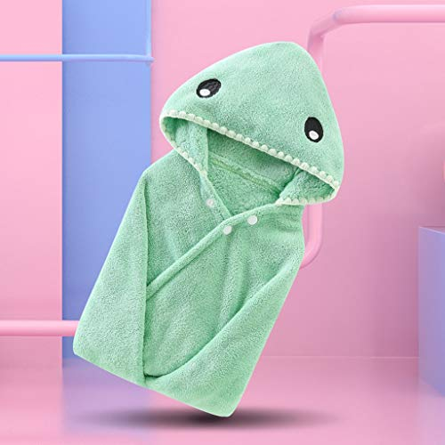 Tier Kapuze Baby-Handtuch Waschlappen Ultra Soft und Extra Large, 100% Baumwolle Bademantel for Dusche Geschenk for Jungen oder Mädchen (0-7 Jahre) (Color : Green)