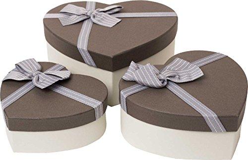 Emartbuy Set Mit 3 Starren Luxus Herzförmige Präsentation Geschenkbox