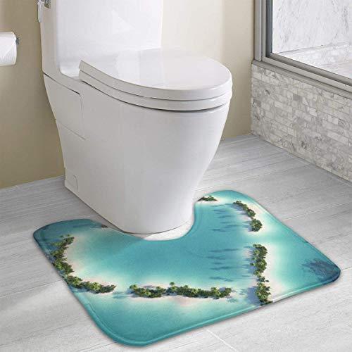 Bath Mat Non Slip Absorbent Super Cozy Coral Velvet Bathroom Rug Toilet Carpet (15.74