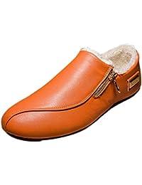 Deylaying Moda Zapatos Sin Cordones de Cuero Hombre Mocasines Calzado Plano