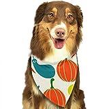 Osmykqe Green Food Hund Bandana Pet Schal für kleine mittelgroße Hunde Zubehör