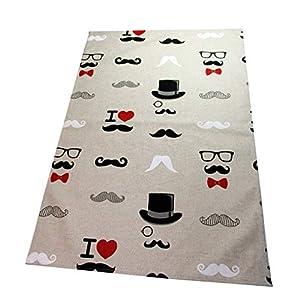 """Ausverkauf SALE Geschirrtuch""""Moustache Man"""" Deckchen"""