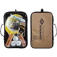 Donic-Schildkröt Set de Tenis de Mesa Persson 500, 2 Raquetas con Mango de Corcho Agradable, 3 Pelotas 2 Estrellas, Funda, 788490