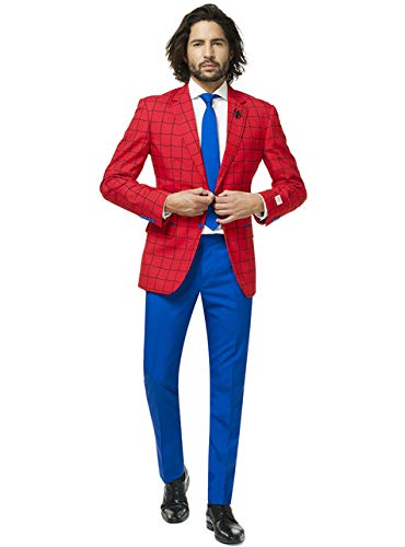 Opposuits Official Marvel Comics Hero Suits - Infinity War Avengers Costume Comes with Pants, Jacket and Tie, Spiderman,56 -