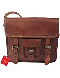 Anshika International Original Leather Messenger Bag - Size (L) 11 (H) 9 (W) 3