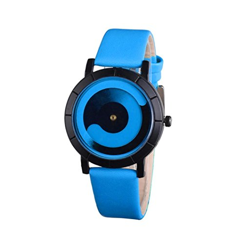 Coolster Unisex Frauen Paar Watch Creative Wave Lovers 'Lederband Uhren