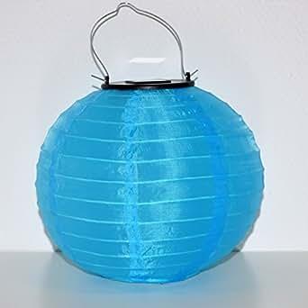 973 led solar lampion blau mit sensor 30cm garten terrasse solarlaterne laterne. Black Bedroom Furniture Sets. Home Design Ideas