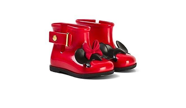 77a2bc334cf80 Mini Melissa Red Girls Disney RAIN Boots  Amazon.co.uk  Shoes   Bags