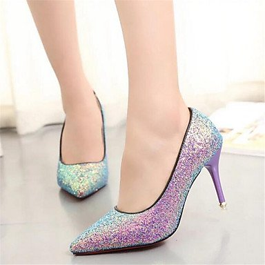 Moda Donna Sandali sexy donne tacchi tacchi in similpelle / Matrimoni Party & sera abito / Stiletto Heel SequinBlue / rosa / Pink