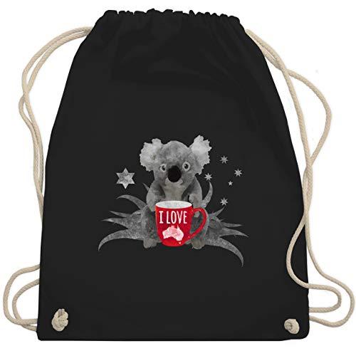 Kontinente - I love Australien Koala - Unisize - Schwarz - WM110 - Turnbeutel & Gym Bag
