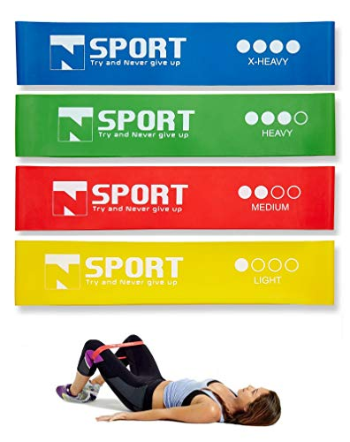 TNSPORT Fitnessband Set - Theraband Loop Resistance Bands, Mini Bands |Elastic Bands,  Resistance Band, Gymnastikband Trainingsband | Loop Band Fitness, Elastische Bänder
