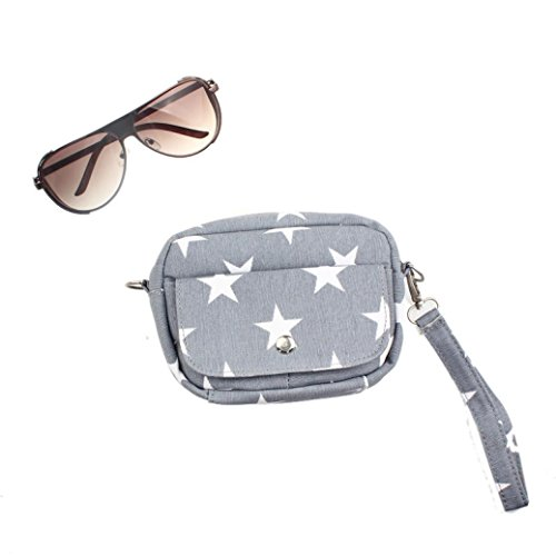 BZLine® Frauen Taschen Mini kleine Messenger Cross Body Handtasche Schultertasche, 16*13*5.5cm Grau