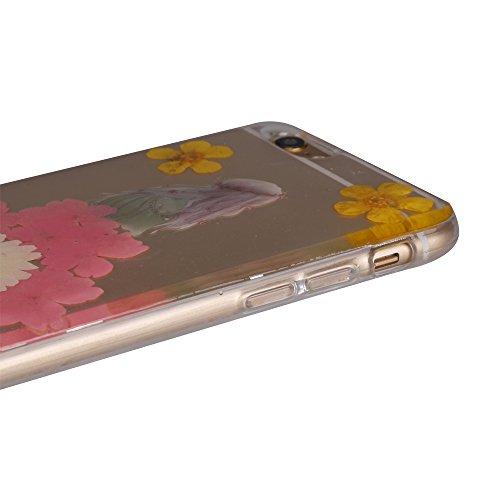 """iPhone 6s Schutzhülle, iPhone 6 Soft TPU Handytasche, CLTPY Modisch Durchsichtige Rückschale im Getrocknete Blumenart, [Stoßdämpfung] & [Kratzfeste] Full Body Case für 4.7"""" Apple iPhone 6/6s + 1 Stylu Floral 33"""