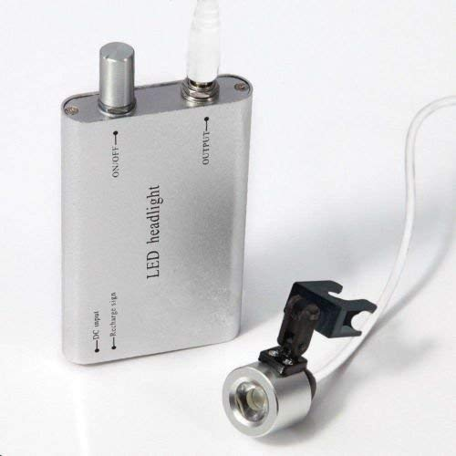 DiLiBee Dental LED Headlight Kopflampe KOPFLUPE Scheinwerfer Set for Binocular Loupe DE