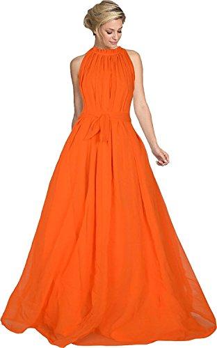 Reeva Trendz Women's Fancy Orange Color Georgette Exclusive Designer Gown (Gowns for...