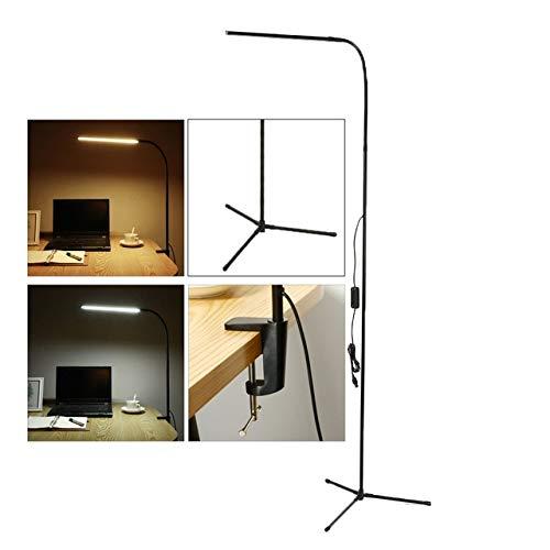 ZUOZUO Tischlampe Lupe USB 5X Schraubstock Tischklemme Lupe Led-Leuchten Flexible Schreibtischlampe Zum Lesen Arbeitsbeleuchtung