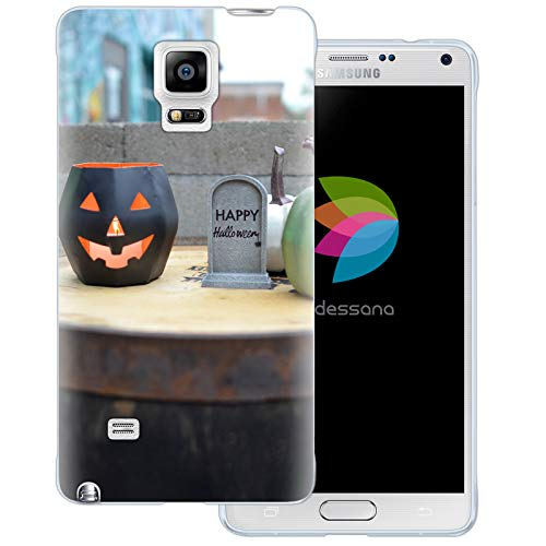 dessana Halloween Transparente Schutzhülle Handy Case Cover Tasche für Samsung Galaxy Note 4 Happy Halloween