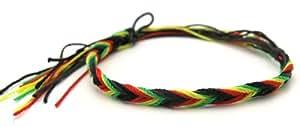 Bracelet homme femme rasta reggae surf surfeur tresse shamballa tibet