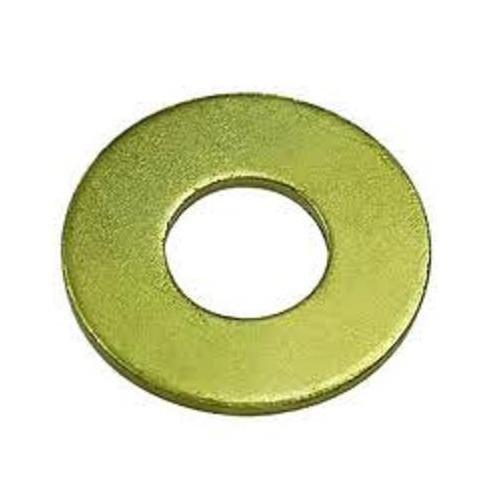 Steel Flat Washer, Zinc Yellow Chromate Plated Finish, Grade 8, ASME