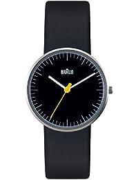 Braun Unisex-Armbanduhr BN0021BKBKL Analog Quarz Leder 66525