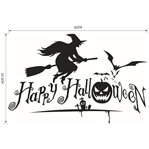 housesweet Aufkleber Happy Halloween Pumpkins Spooky hexenwand Decals Window Sticker Halloween Dekorationen Kids Zimmer Nursery Halloween Party