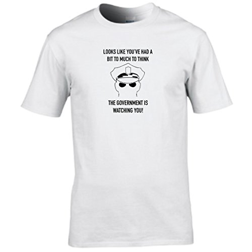 THOUGHT POLICE - government is watching you mens t shirt