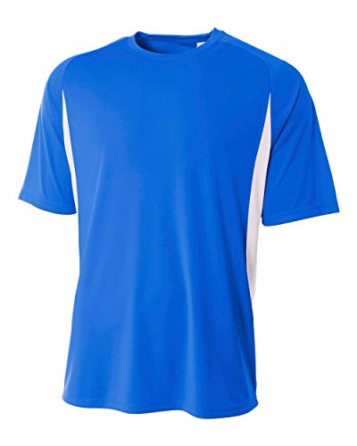 A4 Youth Cooling Performance Color Block Short Sleeve Tee